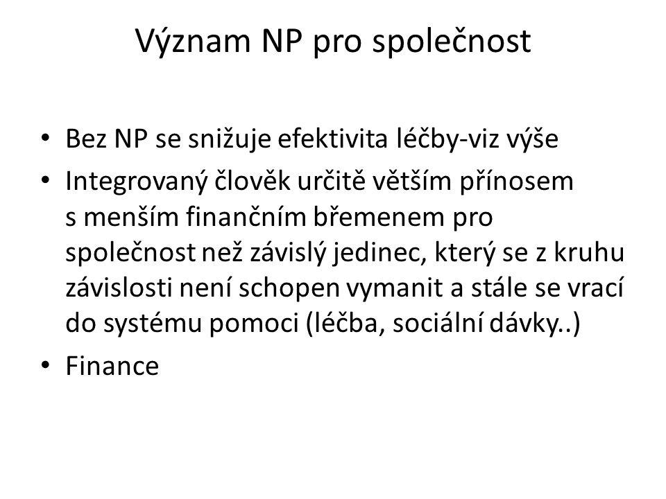 Význam NP pro společnost