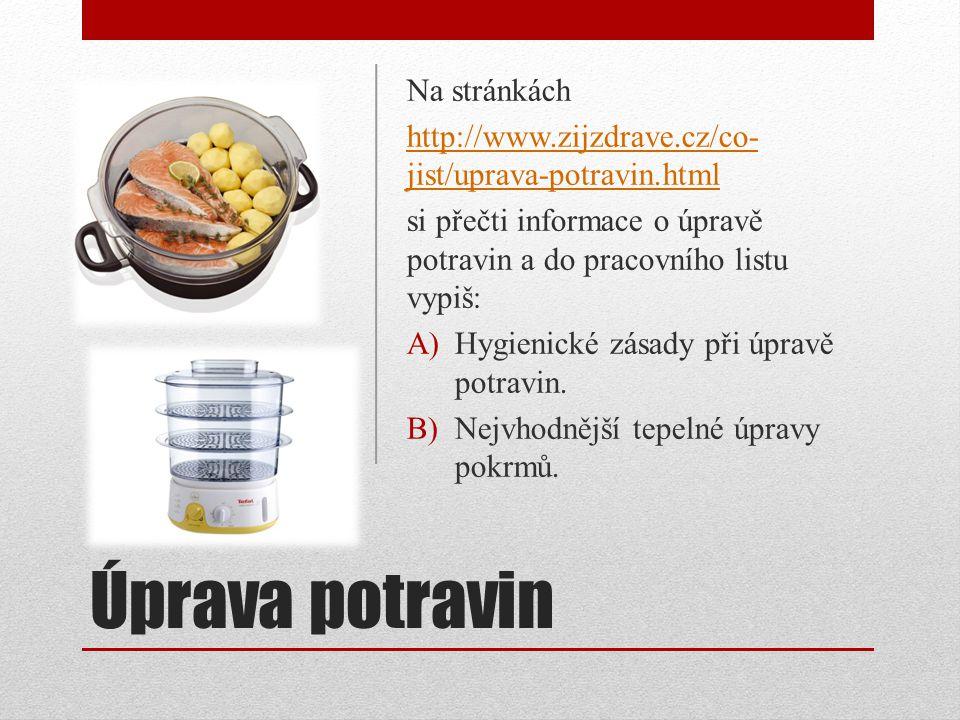 Úprava potravin Na stránkách
