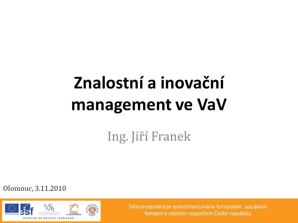 Znalostní a inovační management ve VaV