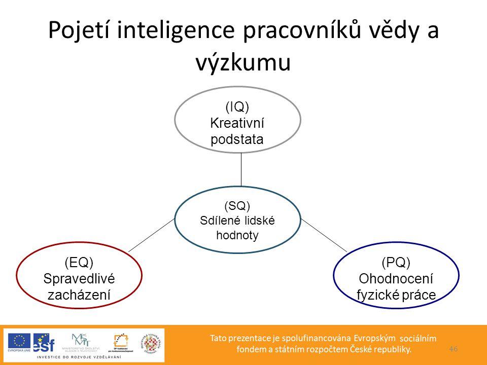 Pojetí inteligence pracovníků vědy a výzkumu