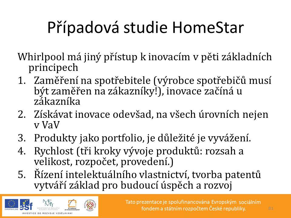 Případová studie HomeStar