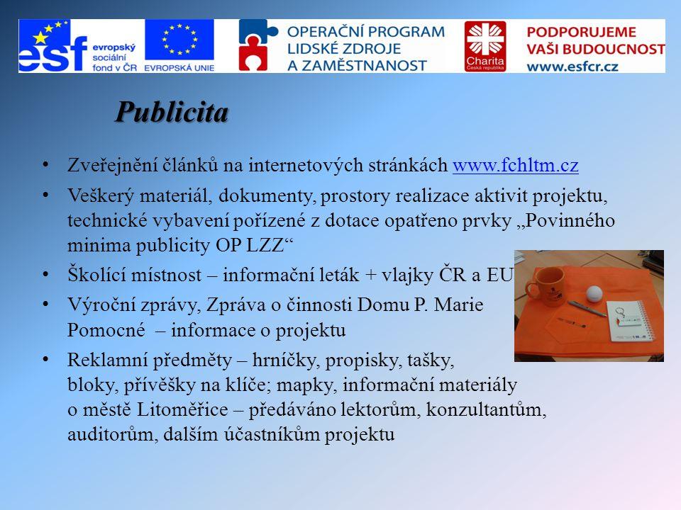 Publicita Zveřejnění článků na internetových stránkách www.fchltm.cz