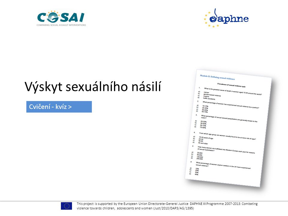 Výskyt sexuálního násilí