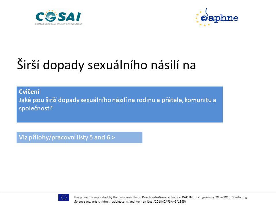 Širší dopady sexuálního násilí na