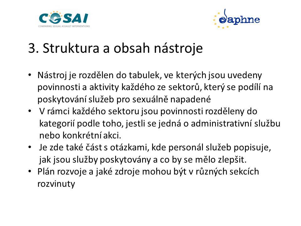3. Struktura a obsah nástroje