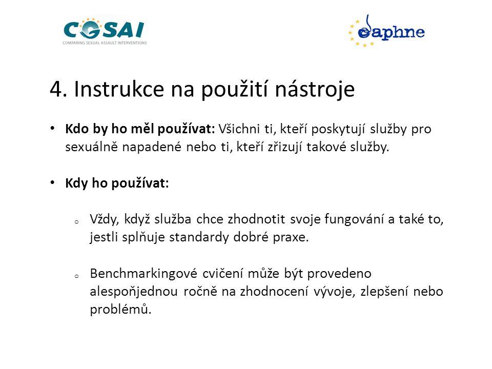4. Instrukce na použití nástroje