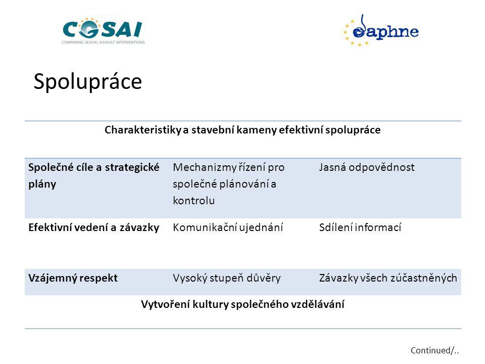 Spolupráce Charakteristiky a stavební kameny efektivní spolupráce