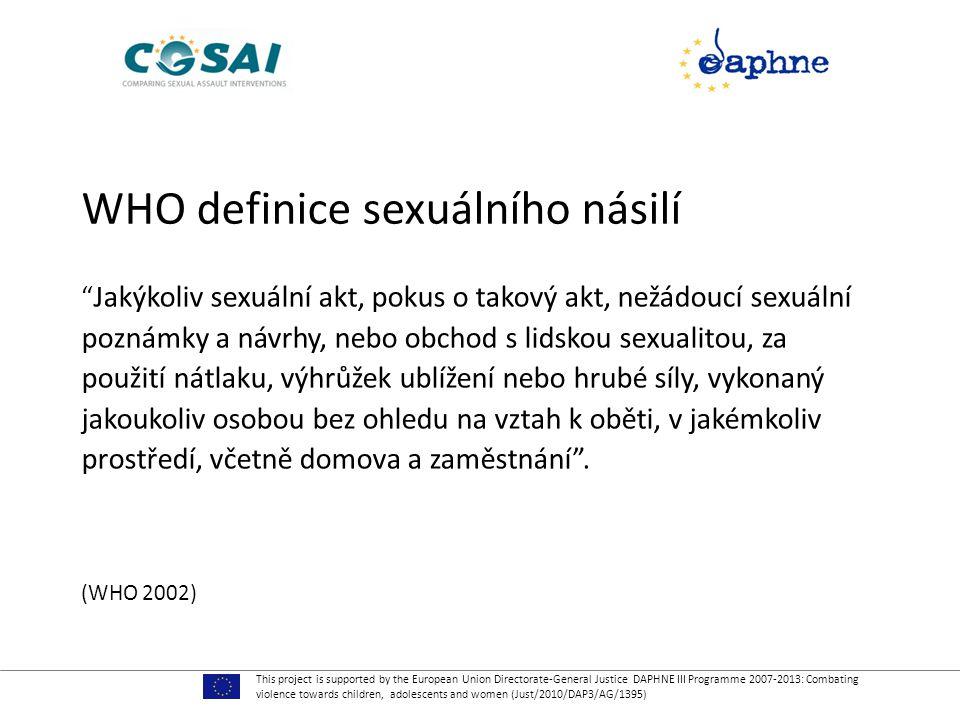 WHO definice sexuálního násilí