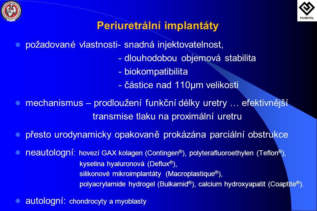 Periuretrální implantáty