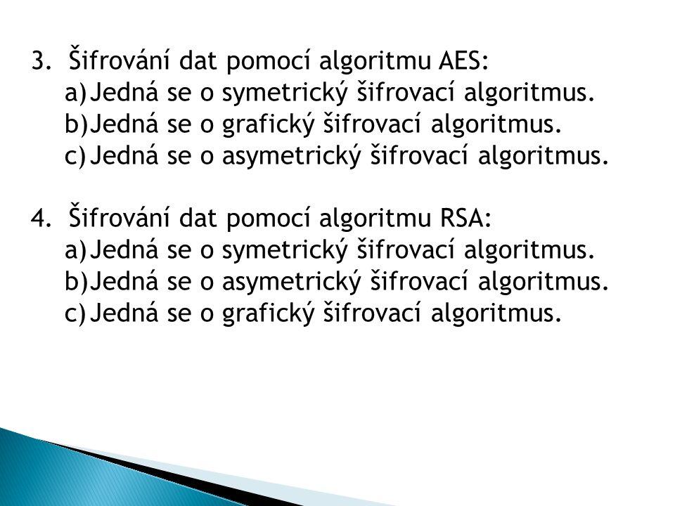 Šifrování dat pomocí algoritmu AES: