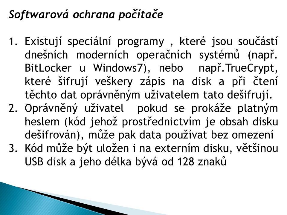 Softwarová ochrana počítače