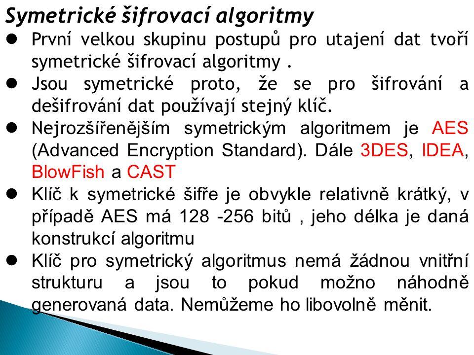 Symetrické šifrovací algoritmy