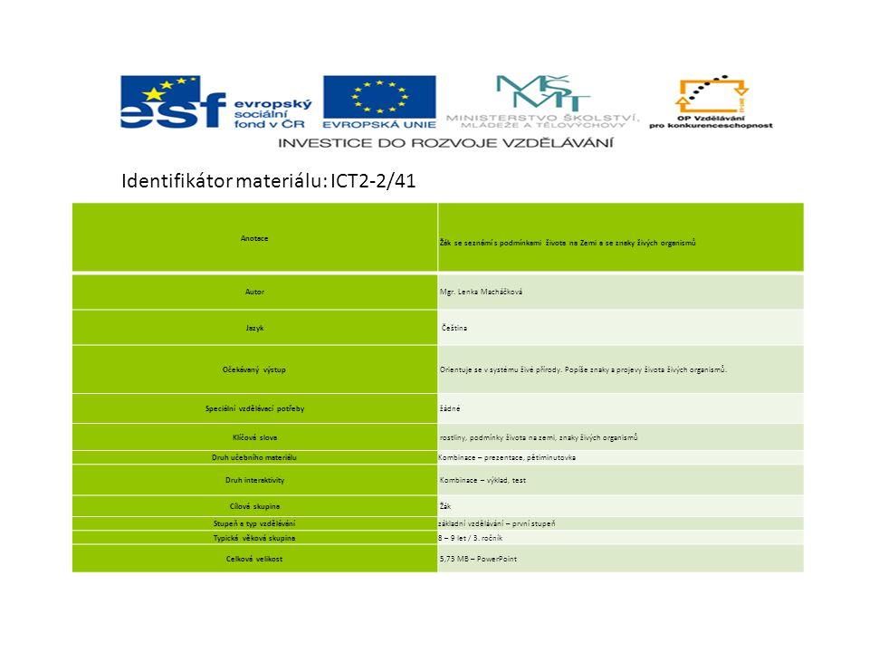 Identifikátor materiálu: ICT2-2/41