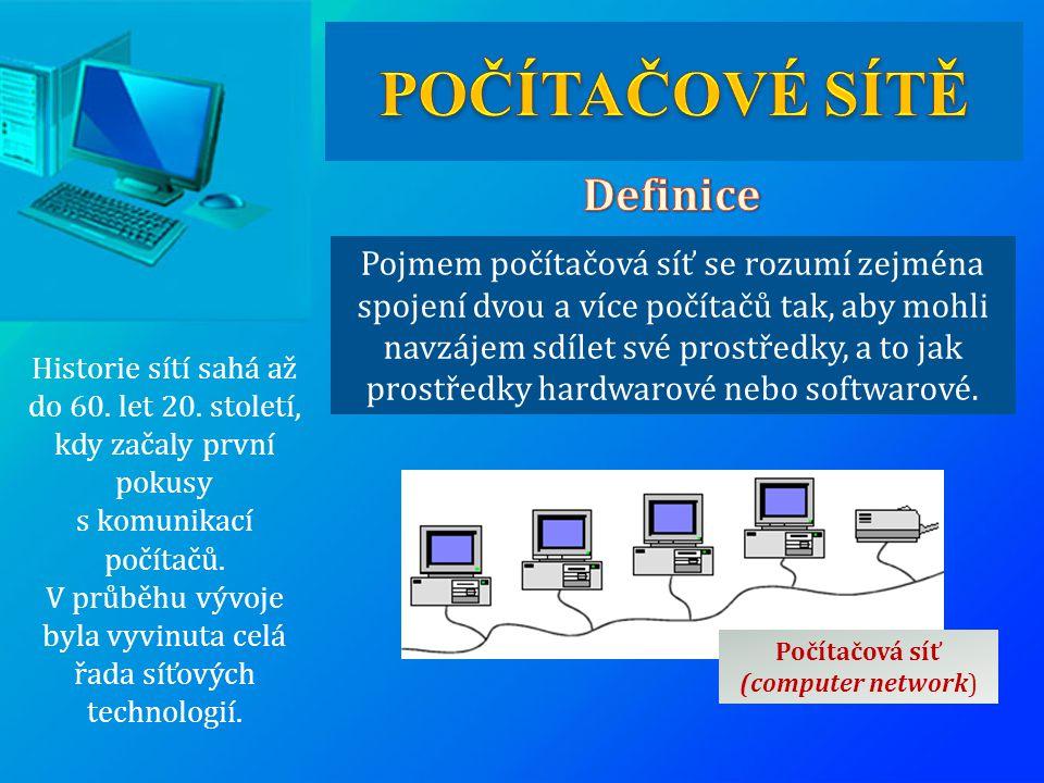 V průběhu vývoje byla vyvinuta celá řada síťových technologií.
