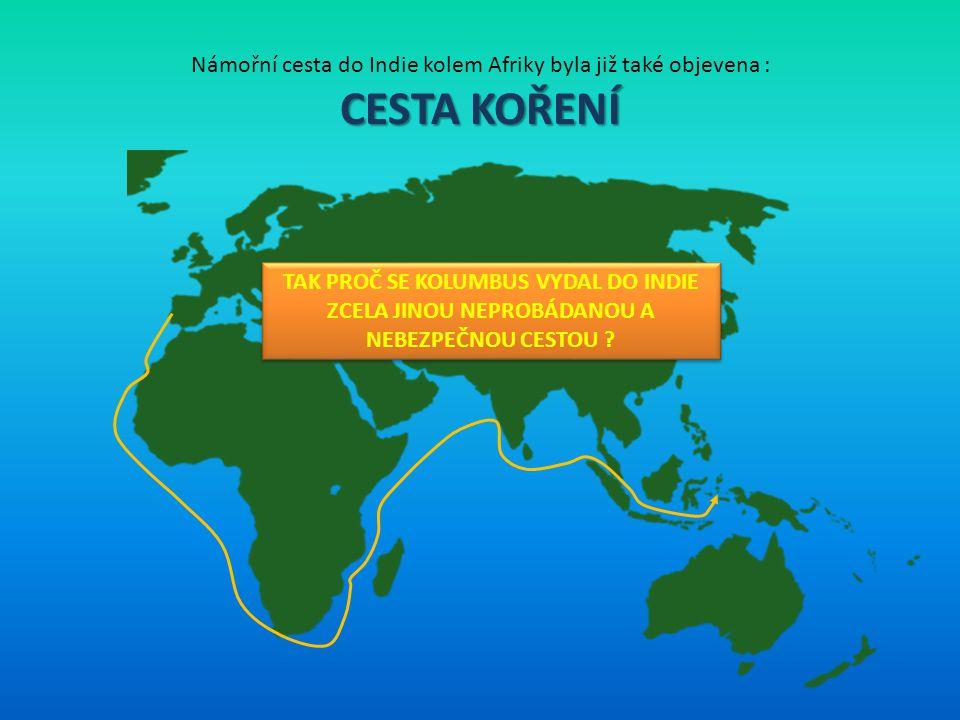 Námořní cesta do Indie kolem Afriky byla již také objevena :
