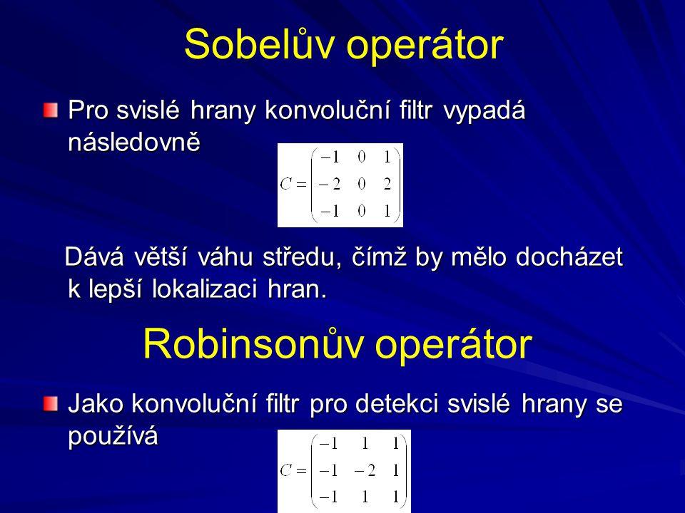 Sobelův operátor Robinsonův operátor