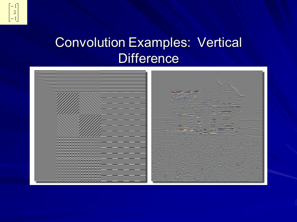 Convolution Examples: Vertical Difference