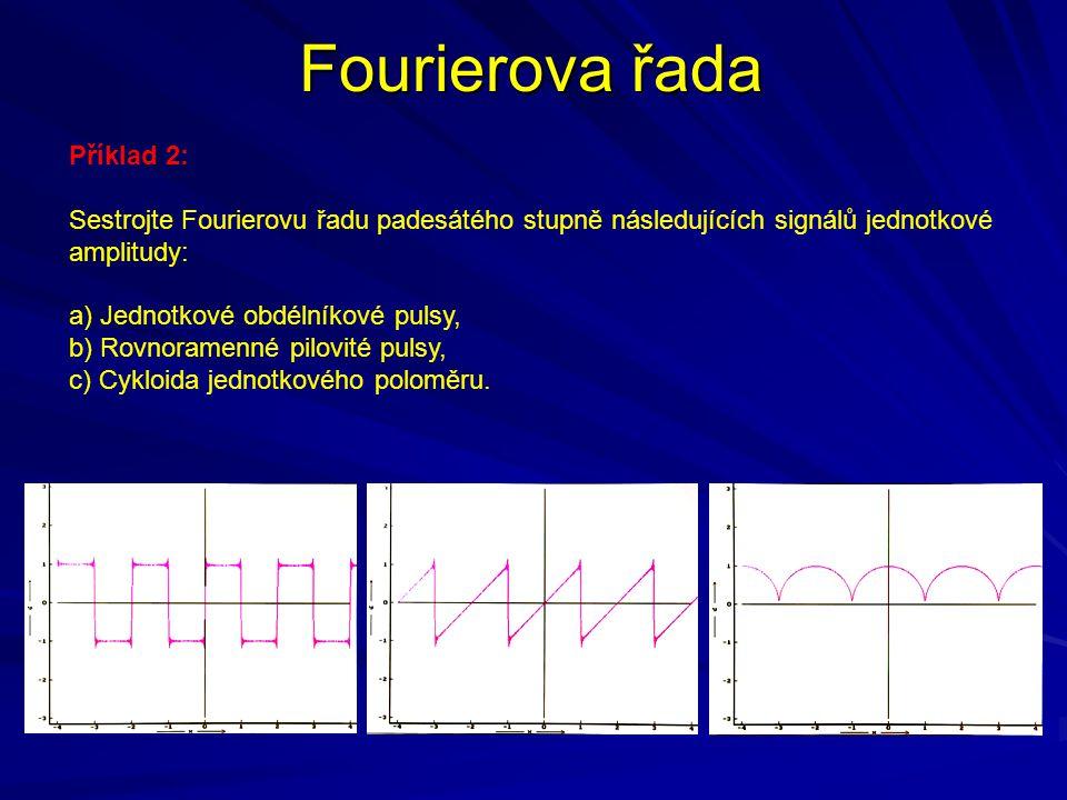 Fourierova řada Příklad 2: