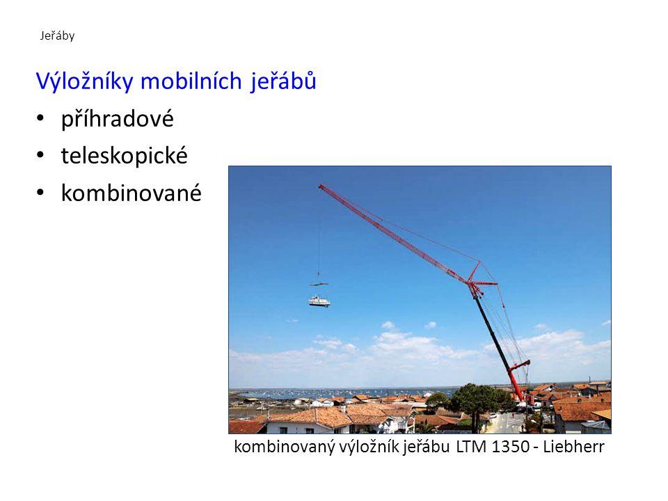 Výložníky mobilních jeřábů příhradové teleskopické kombinované