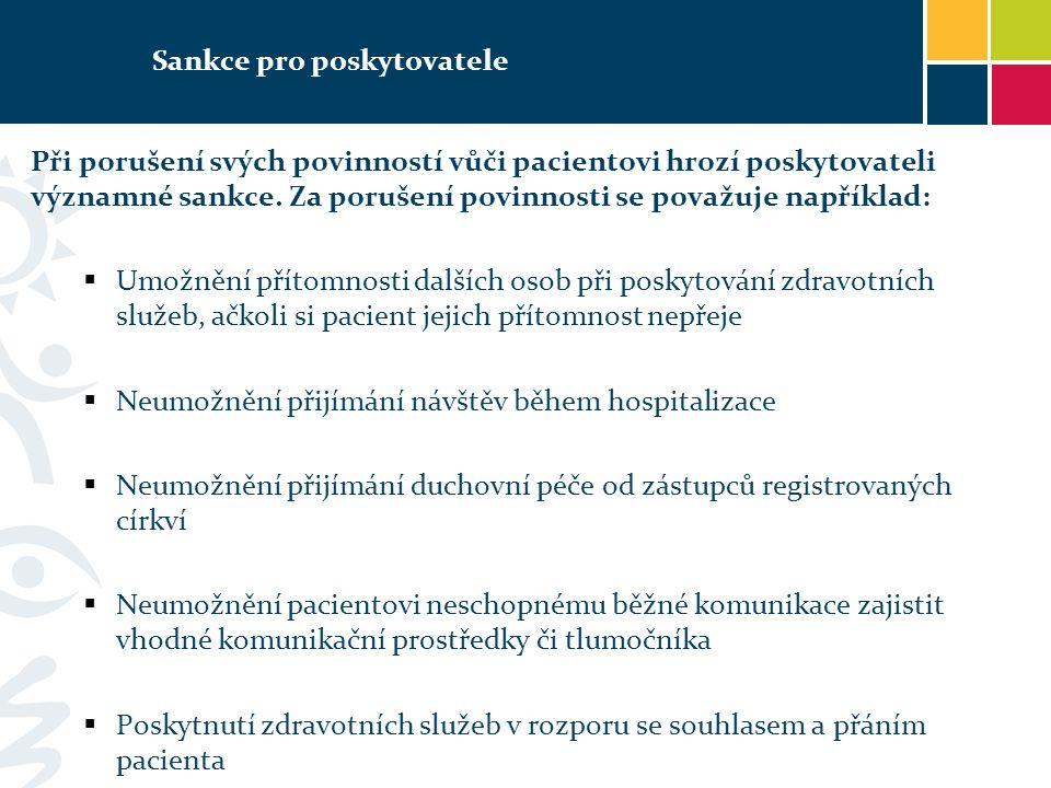 Sankce pro poskytovatele
