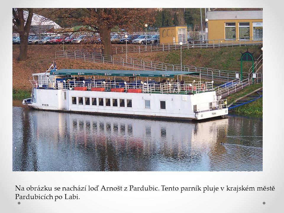 Na obrázku se nachází loď Arnošt z Pardubic