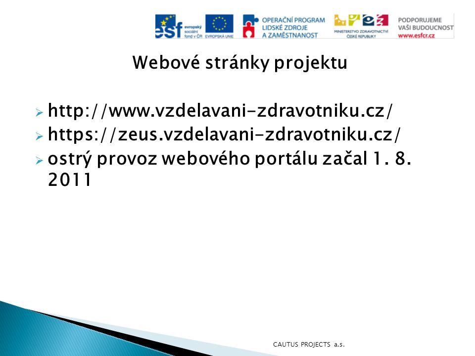 Webové stránky projektu