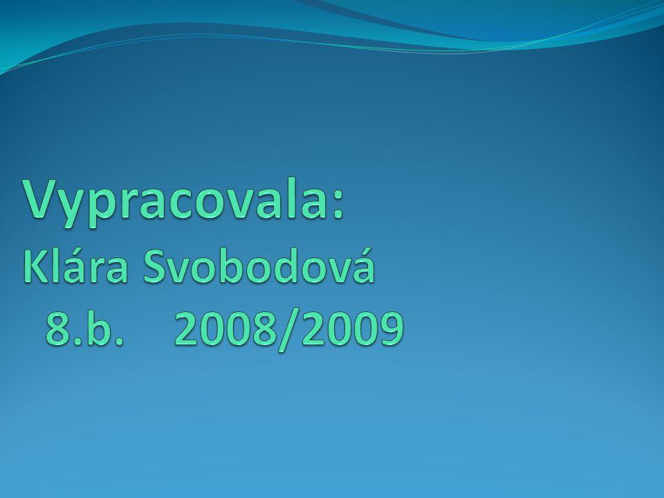 Vypracovala: Klára Svobodová 8.b. 2008/2009