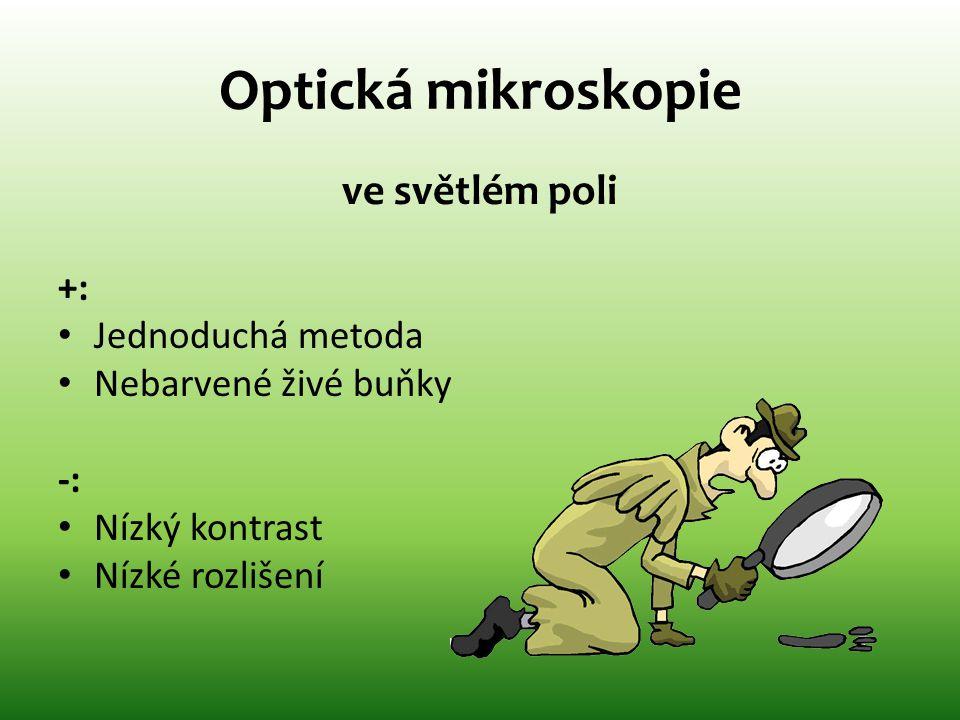 Optická mikroskopie ve světlém poli +: Jednoduchá metoda
