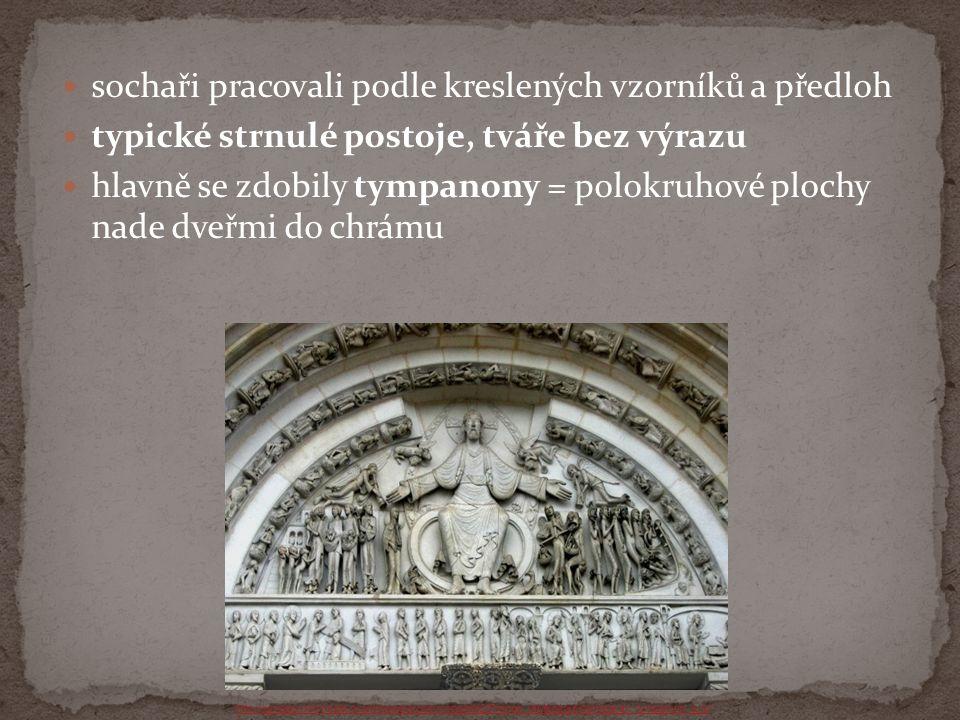sochaři pracovali podle kreslených vzorníků a předloh