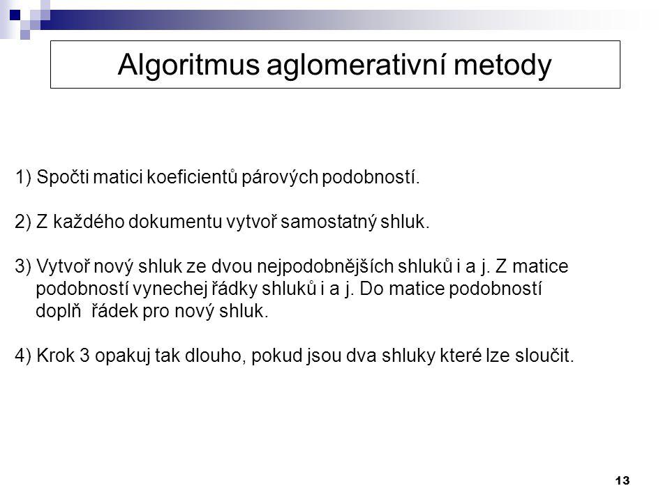 Algoritmus aglomerativní metody
