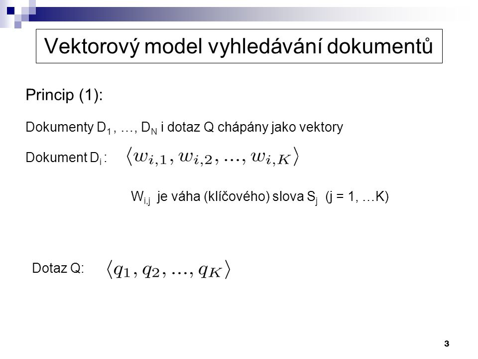 Vektorový model vyhledávání dokumentů