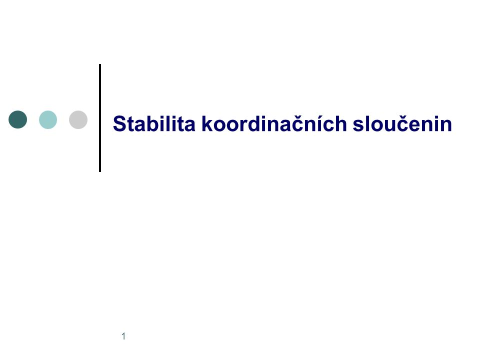 Stabilita koordinačních sloučenin