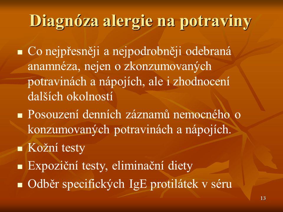 Diagnóza alergie na potraviny