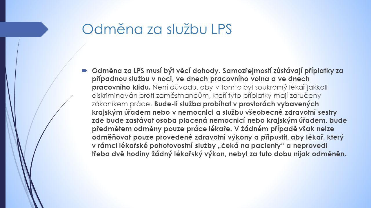 Odměna za službu LPS