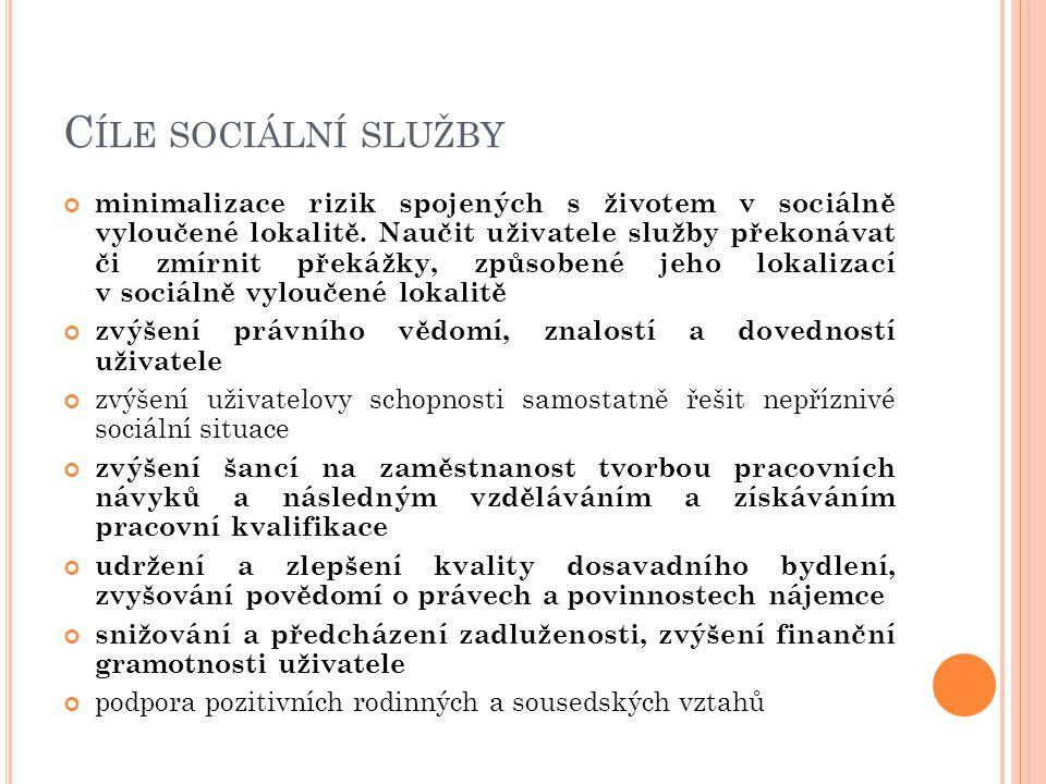 Cíle sociální služby