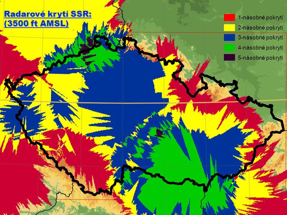 FIC Praha Radarové krytí SSR: (3500 ft AMSL) 1-násobné pokrytí
