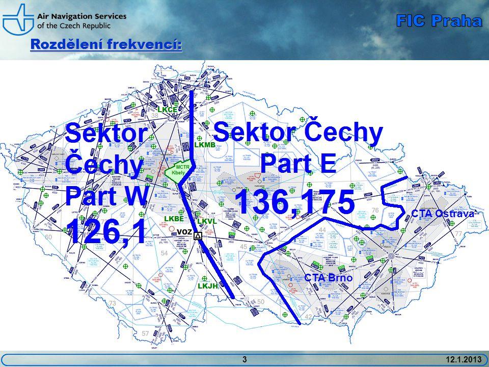 FIC Praha Rozdělení frekvencí: CTA Ostrava CTA Brno 3 12.1.2013