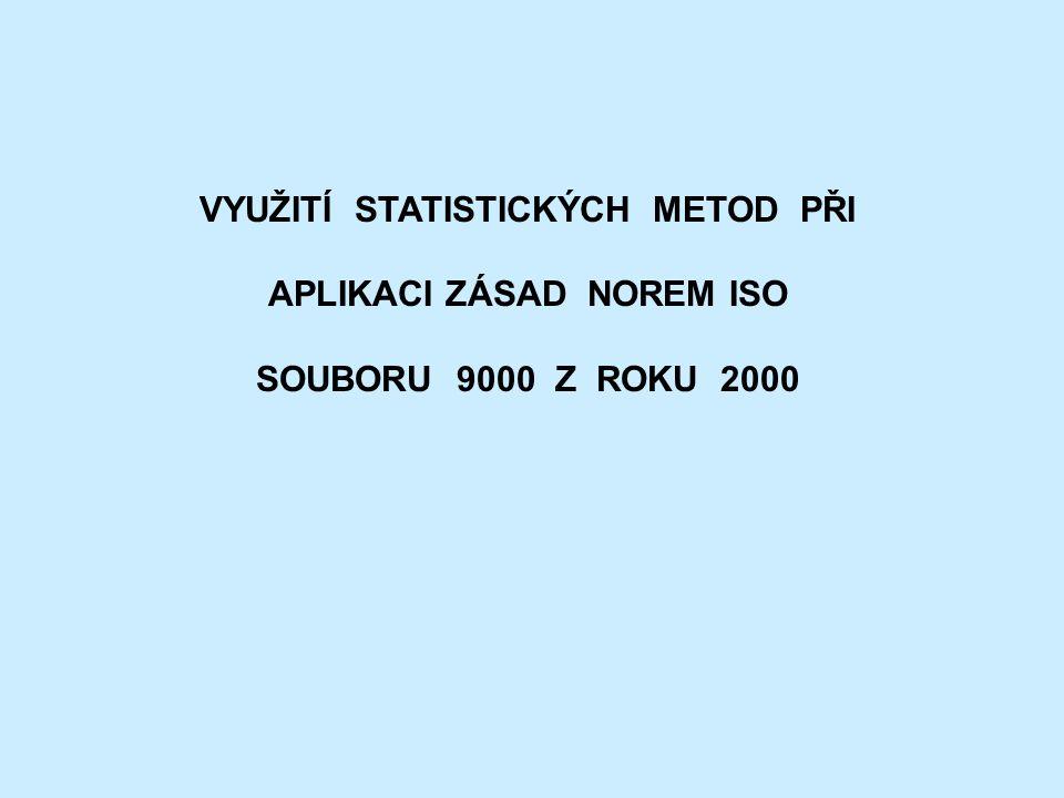 VYUŽITÍ STATISTICKÝCH METOD PŘI APLIKACI ZÁSAD NOREM ISO