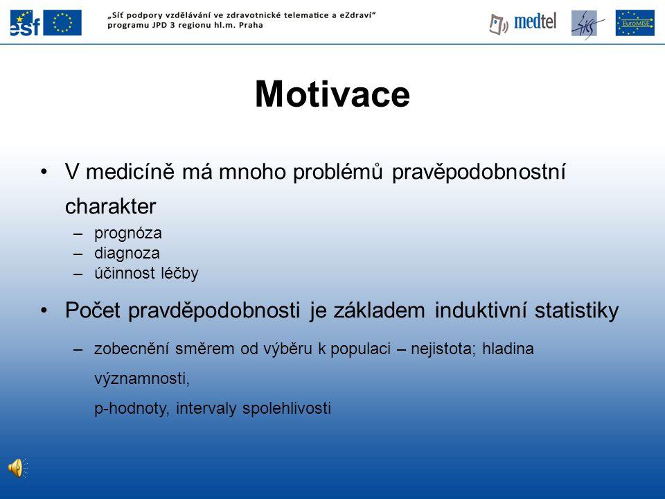 Motivace V medicíně má mnoho problémů pravěpodobnostní charakter