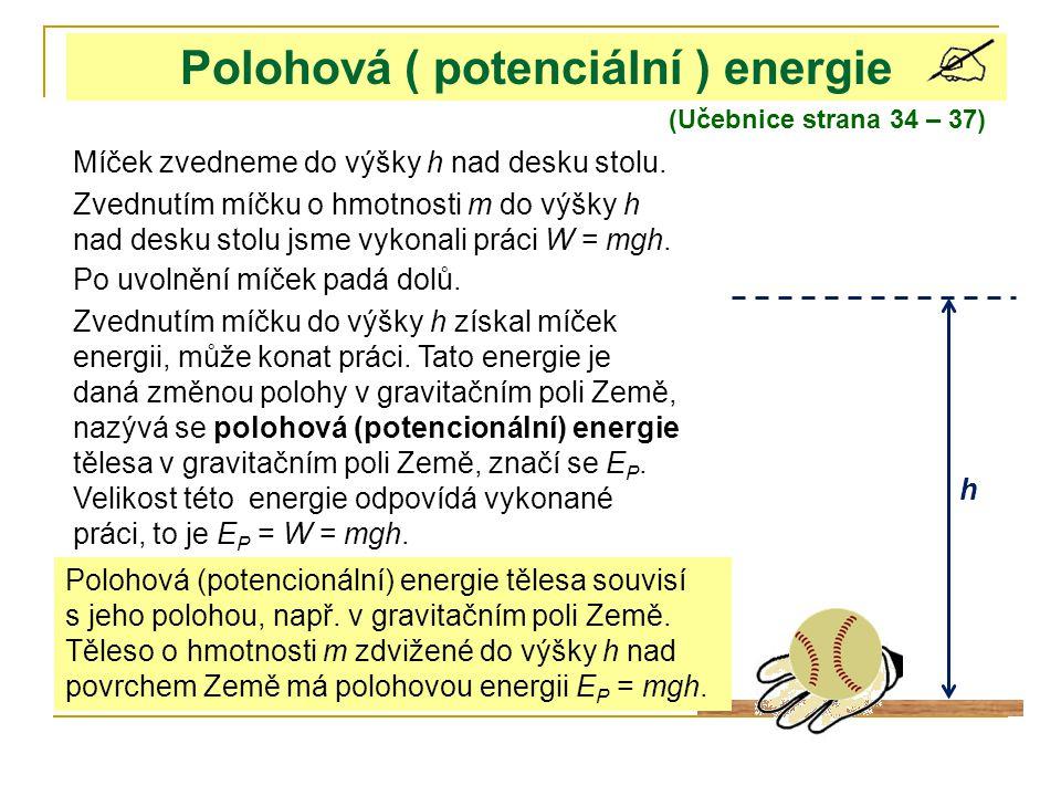Polohová ( potenciální ) energie