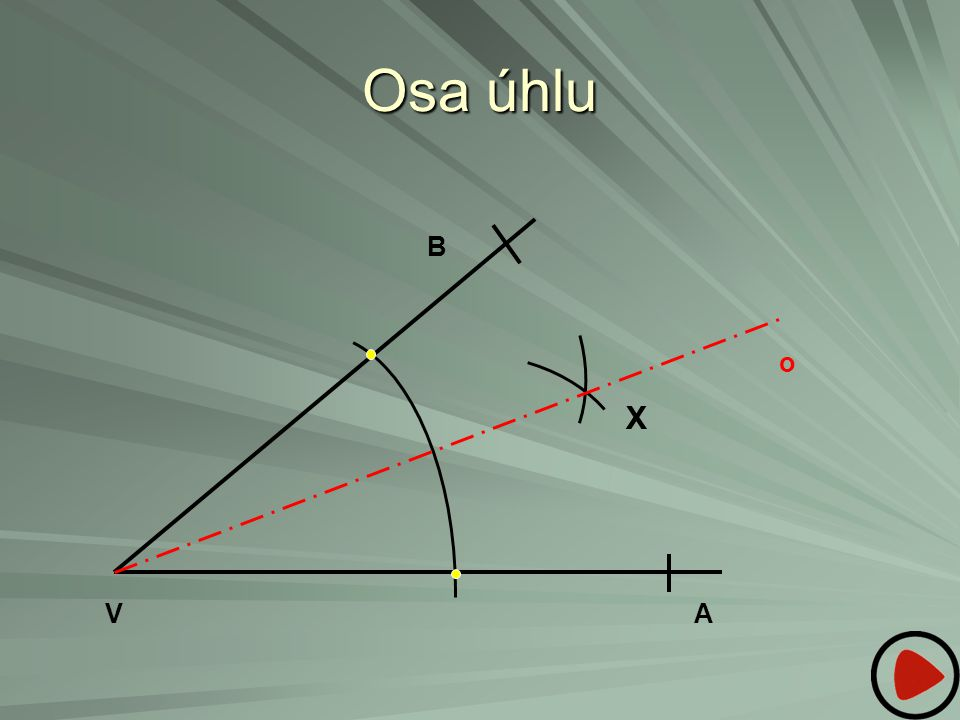 Osa úhlu B o X V A