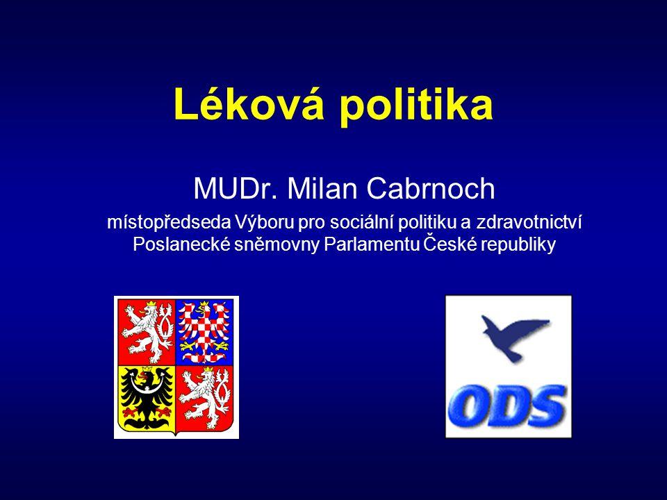 Léková politika MUDr. Milan Cabrnoch