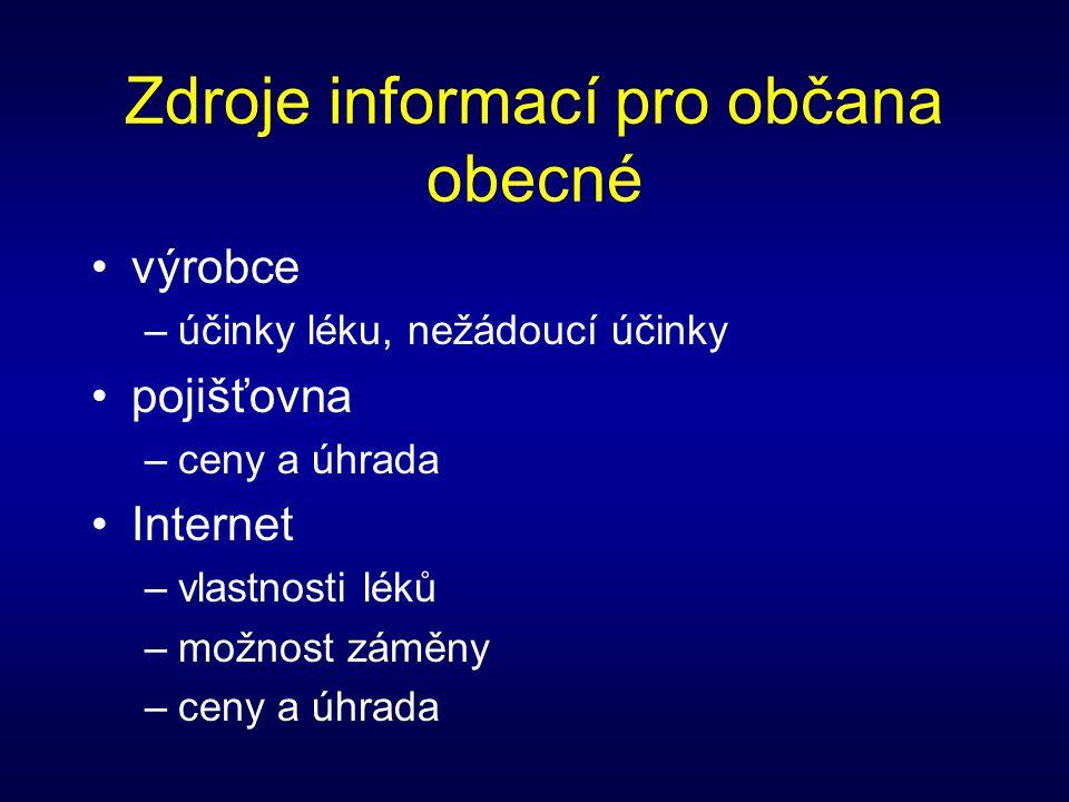 Zdroje informací pro občana obecné