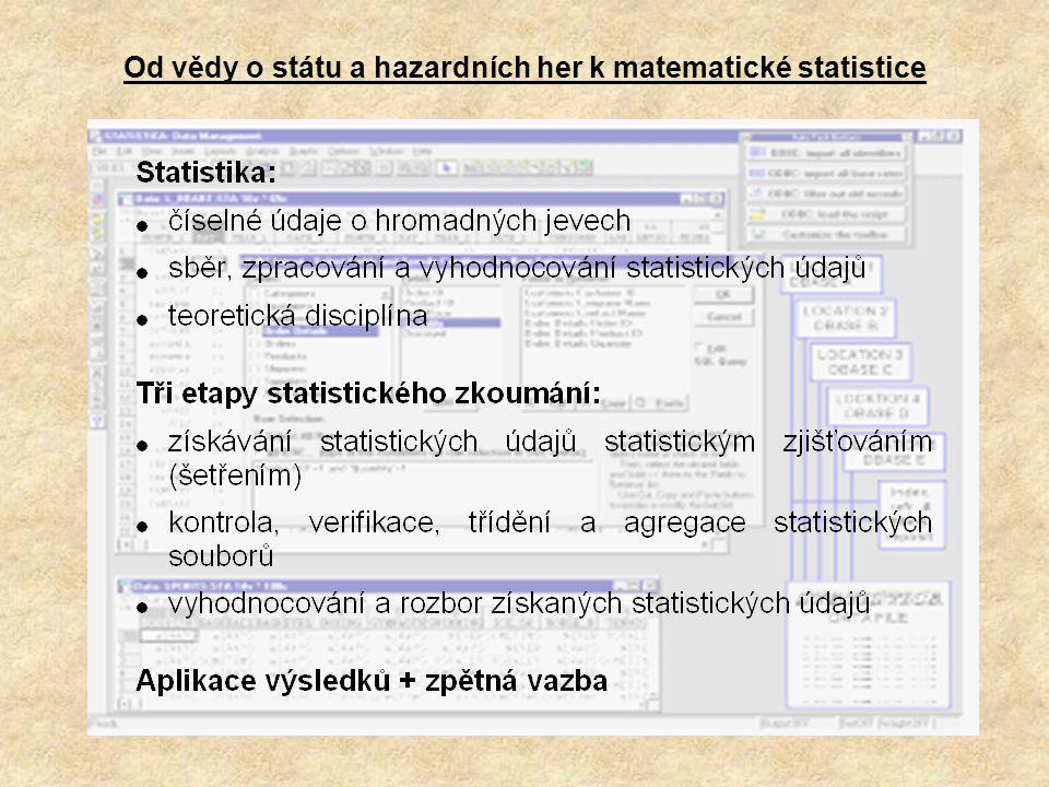 Od vědy o státu a hazardních her k matematické statistice
