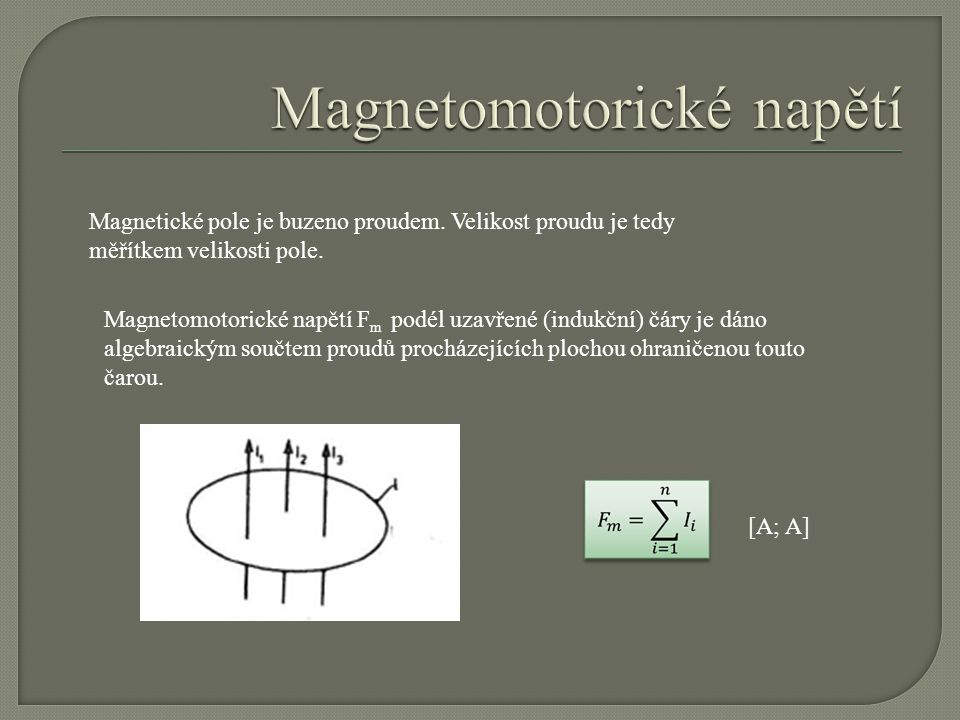 Magnetomotorické napětí