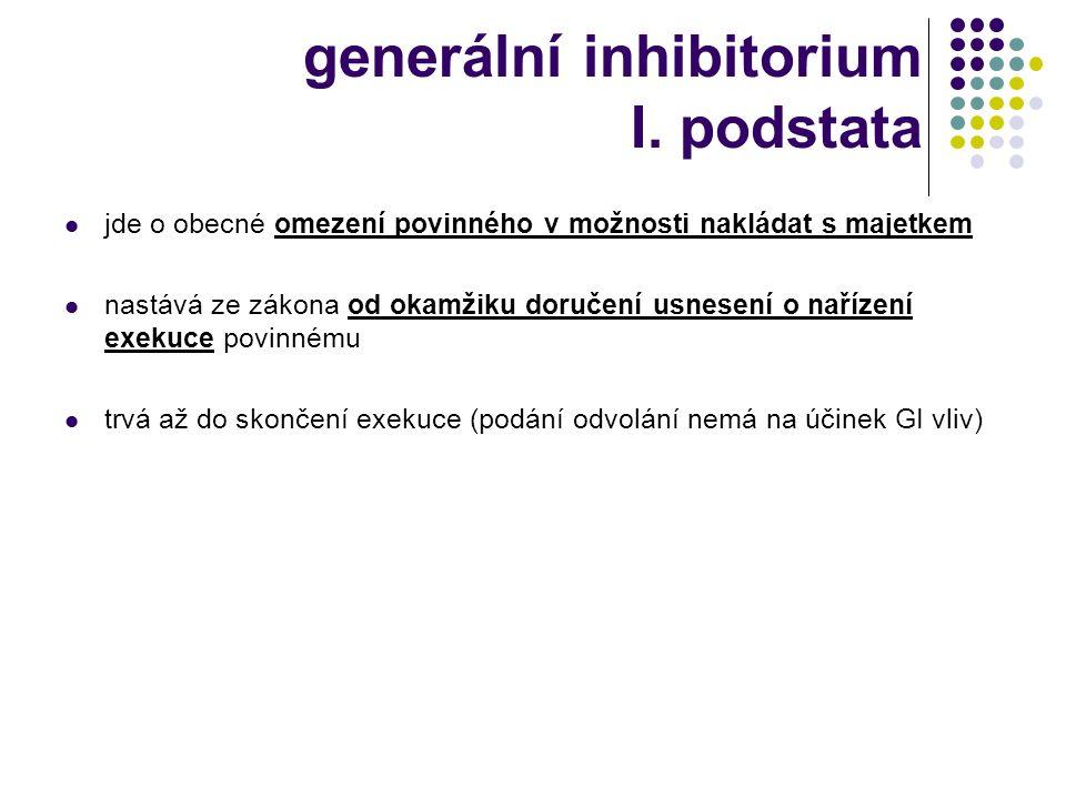 generální inhibitorium I. podstata