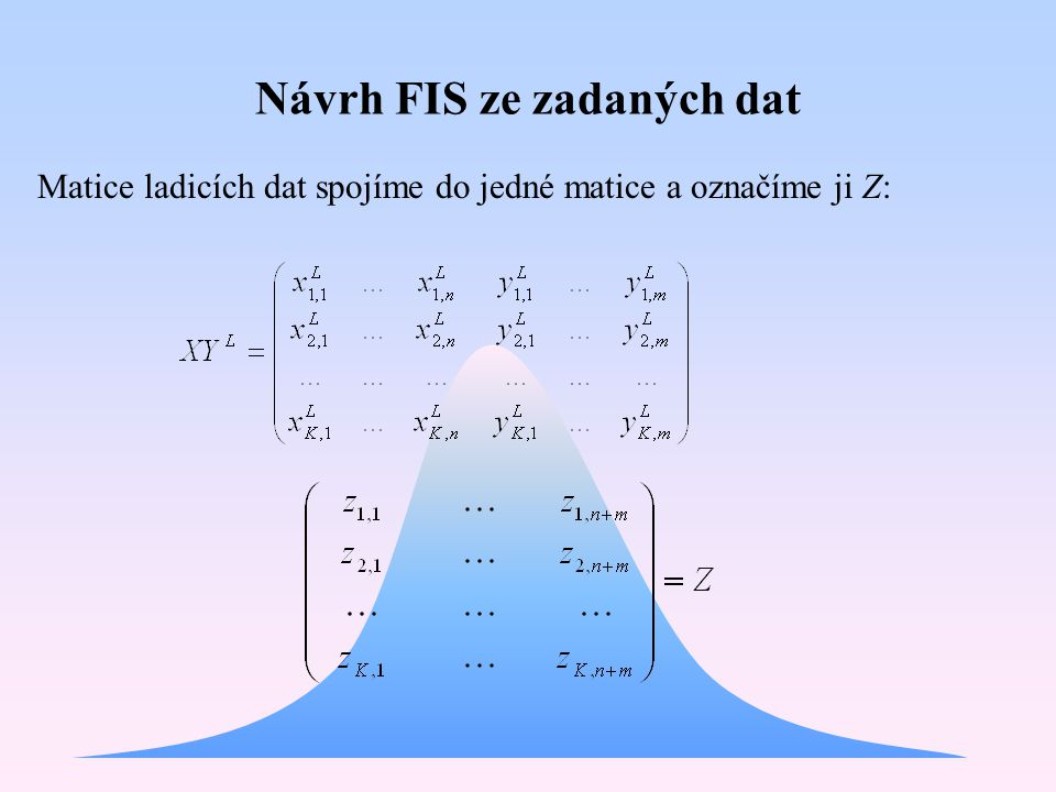 Návrh FIS ze zadaných dat