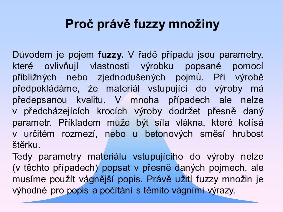 Proč právě fuzzy množiny