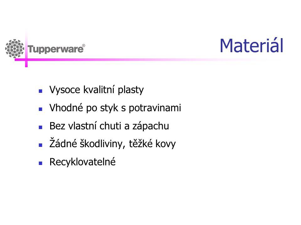 Materiál Vysoce kvalitní plasty Vhodné po styk s potravinami