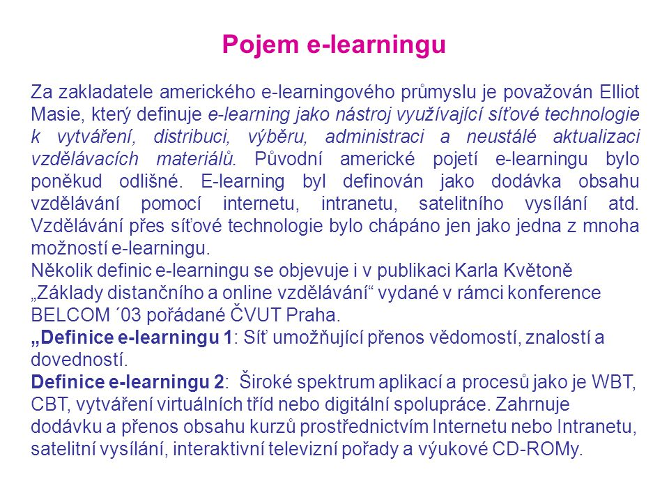 Pojem e-learningu